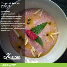 Transport yourself to the tropics today with this protein mousse recipe!