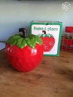 Seau à glaçons fraise vintage avec boite