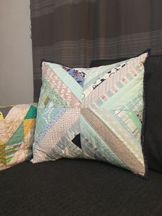 String pieces pillow cover