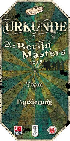 Urkunde 2. Berlin Masters 2013