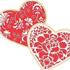 Cookie Stencil & Cutter Set Winterthur Hearts  http://www.fancyflours.com/product/Cookie-Stencil-Cutter-Set-Winterthur-Hearts-Tin/valentines-party-theme