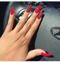 acrylic nails done 💅🏻 doha beauty nails 💅🏻 polish _ jewelry # best design # doha artist # doha, qatar # manicure # pedicure # nailart Red Sparkle Nails, Shiny Nails, Glam Nails, Beauty Nails, Fun Nails, Coffin Nails, Acrylic Nails, Unicorn Nails, Ombre Nail Designs