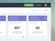 Dribbble - Survey dashboard [wip] by Frantisek Kusovsky