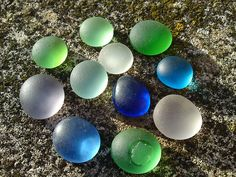 Evening seaglass shades