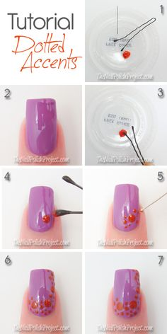 Tutorial: Dotted Accent Nails