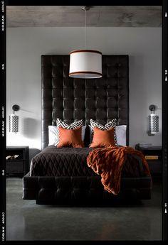 Headboard | Concrete Floor! | Orange