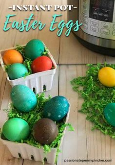 If you have an Instant Pot, you may have already found out how handy it is for hard boiling eggs. But maybe you haven't thought about dyeing eggs in it as well! PPP Team Member Cheree spent the last week busily trying out all sorts of Instant Pot Easter Egg recipes – here's a traditional Easter egg dyeing method adapted for the Instant Pot. 🙂 Supplies needed: Eggs Food Coloring Vinegar Ramekins Instant Pot Trivet (this should come with your Instant Pot)