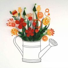 "Illustrator ""Draws"" Blooming Flowers with Colorful Sheets of Paper as Her Fine Lines"