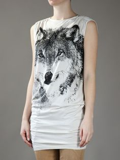 Stella McCartney Wolf Printed Jersey Dress/Long Tee
