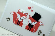 Stampin' UP! - Foxy Friends - Wedding - Hochzeit - Bride and groom - Brautpaar - Cookie Cutter - Lebkuchenmännnchen - Frostige Freunde