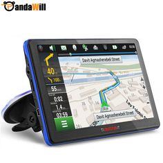 7 inch Car GPS Navigation Capacitive screen FM Built in 8GB/256M WinCE 6.0 Map For Europe/USA Canada Truck vehicle gps Navigator -- For more information, visit image link.