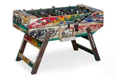 Foosball table made from recycled wood from old boats.   # Pin++ for Pinterest #