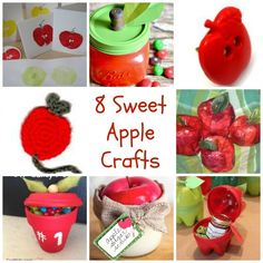 An apple a day keeps the doctor away. Or, in the case, an apple craft a day keeps the doctor away! Whether you are looking for some fun seasonal craft ideas or maybe a teacher gift for the fast a…