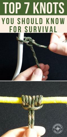 Top 7 Knots You Should Know For Survival - This is a great article on 7 knots that are all pictured in the article. There are brief descriptions about the value of each knot as well. You can take wrangle your knot tying skills back from the clutches of history. With very little practice you can become a paracord wizard. #survival #knots #lifehacks