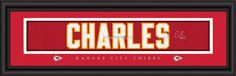 "Kansas City Chiefs Jamaal Charles Print - Signature 8""""x24"""""
