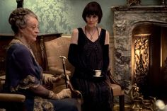 Maggie Smith (left) stars as Violet Crawley and Michelle Dockery as Lady Mary in the 2019 movie Downton Abbey. Gentlemans Club, Best Movies Of 2019, Watch Downton Abbey, Imelda Staunton, Hugh Bonneville, Laura Carmichael, Movie Sequels, Little Dorrit, Dowager Countess