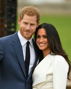 Princr Harry And Meghan Marco at their photo call after Announcing Their E November 27th 2017.
