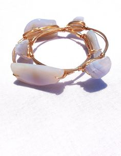 The Chalcedony gold bauble bangle on Etsy, $15.99