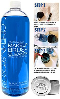 Cinema Secrets Brush Cleaner, 32oz   FREE TIN Holder by Cinema Secrets ($41 VALUE) -- Find out more about the great product at the image link.