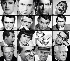 The many faces of Cary Grant