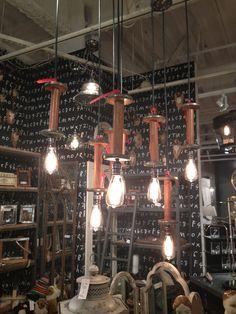 Great repurposed wooden spools!