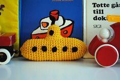 Yellow Submarine Crocheted Toy Free Pattern