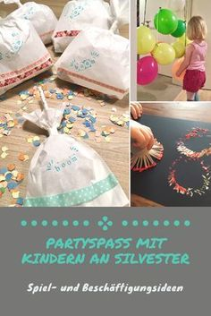 Silvester feiern mit Kind – DIY-Ideen für eine gelungene Familienparty New Year's Eve celebrate with children. So everyone has fun at the party. With instructions for great bang bags. Diy For Teens, Diy For Kids, Dessert Nouvel An, Diy Silvester, Dream Cars, Holiday Desserts, Thanksgiving Decorations, Artisanal, New Years Eve