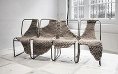 We really like this kind of object by the artist knotted.mehttp://knotted.me/gallery/chairinstallationnew/