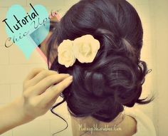 """Vintage Hairstyles Updo """"How to easy wedding hairstyles updos for medium long hair tutorial."""" -there were about 50 hashtags here, but I deleted them. Medium Long Hair, Medium Hair Styles, Long Hair Styles, Wedding Hairstyles Tutorial, Simple Wedding Hairstyles, Up Hairstyles, Pretty Hairstyles, Formal Hairstyles, Elegant Hairstyles"""