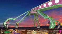 USA - LAS VEGAS : Faire le plein de sensations au Stratosphere Hotel de Las Vegas. En dormant dans l'hôtel Stratosphere à Las Vegas, il suffit d'emprunter un ascenseur pour s'élever au-dessus de la ville et se confronter à ses pires frayeurs. Oubliez le restaurant panoramique et choisissez l'une de ses attractions complètement folles – Big Shot, une tour qui simule un décollage de navette spatiale à 350 mètres de hauteur, Insanity the Ride, un manège suspendu au-dessus du vide, X-scream, un…