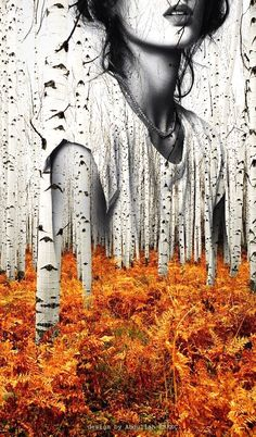 Double exposure design - Abdullah ERKEÇ Great double exposure portrait with trees