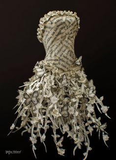 Fairytale Paper Dress Paper Sculpture by MalenaValcarcel on Etsy