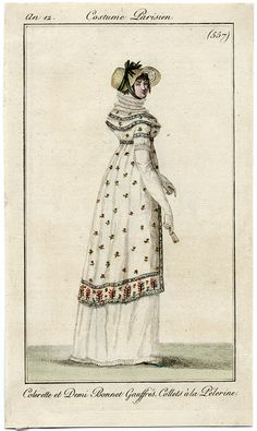 Sprigged overgown, an12 costume parisien