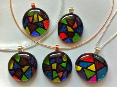 Faux Stained Glass Pendant - pretty, but I am guessing must have patience