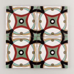 The Classic Cuerda Seca Handpainted Collection: Morris in the Warm Motif.  Available in a 6x6 size. $24/piece.