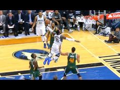 Shabazz Muhammad Takes Off From Far To Punch The 1 Hander!
