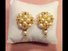 Pearl Button Earrings Tutorial - YouTube