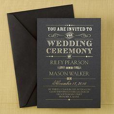 2014 Wedding Color Trend - Black: Announcing - Shimmer Invitation (Invitation Link - http://occasionsinprint.carlsoncraft.com/Weddings/Invitations/WA-WA30939FLBLK-Announcing--Shimmer-Invitation--Black.pro)
