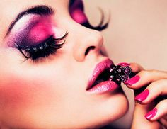 Pink and Purple Makeup Ideas for Party  #pinkmakeup #purplemakeup