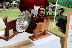 We discovered the Cone of Shame lamps, handcrafted by artist Dick DeGroat, during Sunday's 12th Annual Doggie Art Show in Winter Park. Only a limited amount have been created. Mr. DeGroat is donating 100% of the proceeds to an organization that is raising money to help facilities that have ended up with what has become known as Dump Dogs. #dog #dogs #doglamp #doggift #doglovers #dogdonations #giveback #lamp #unqiue #uniquegifts