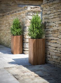 Tall #garden planter made from reclaimed teak. Hardwearing and makes a great statement on the terrace.