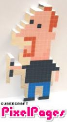Pixel images and pop up cards