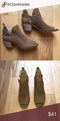 WORN ONCE Lucky Brand slip on booties Women's size 7 Lucky Brand booties. Worn only once! Excellent condition Lucky Brand Shoes Ankle Boots & Booties