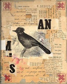 Front Cover of art collage book  by ART NAHPRO, via Flickr