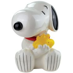 Title: Snoopy Hugging Woodstock Ceramic Cookie Jar, 10.75-Inch Item Number: 20781 Dimensions: 8.8 x 8 x 11 inches Weight: 4.85 lb Westland Giftware's Snoopy Hugging Woodstock Ceramic Cookie Jar is 10.
