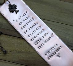 Stamped Metal Copper Bookmark I Myself Am Made by FHGoldDesigns