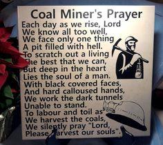 Coal Miners Prayer #bestofEtsy #gifts