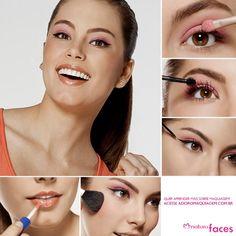 #dica #maquiagem #make #look Veja todo os produtos utilizados e o passo-a-passo completo em: http://www.adoromaquiagem.com.br/dicas-maquiagem/novidades-tendencias/olho-tudo-boca-nada/16468/