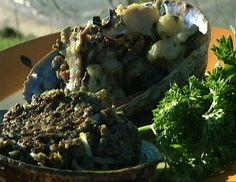 Paua Fritters, Creamed Paua, Shrimps and Mushrooms yummi New Zealand Food And Drink, Island Food, Food Obsession, Sea Food, Fritters, Kiwi, Cake Ideas, Homesteading, Entrees