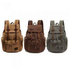 Vintage Canvas Backpack | 43 Super Cool Backpacks For Grownups